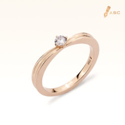 18K Pink Gold Diamond Ring