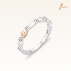 18k Two-tone gold Diamond Band Ring