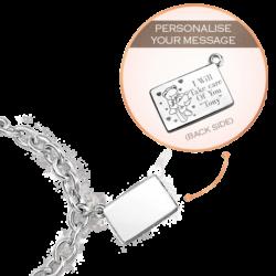 Silver Large Personalized Envelope Bracelet