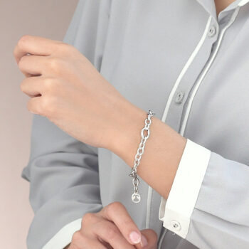 Silver Small Opened Link Bracelet