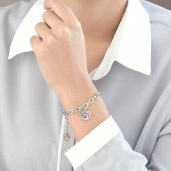 Silver Bear Amethyst Bracelet