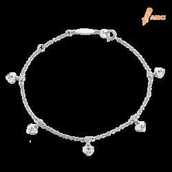 Silver Beawelry Mini Hearts CZ Bracelet