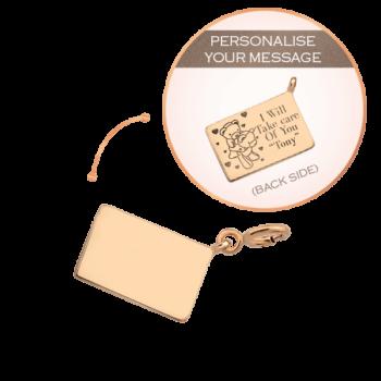 18K Pink Gold Personalise Envelope Charm