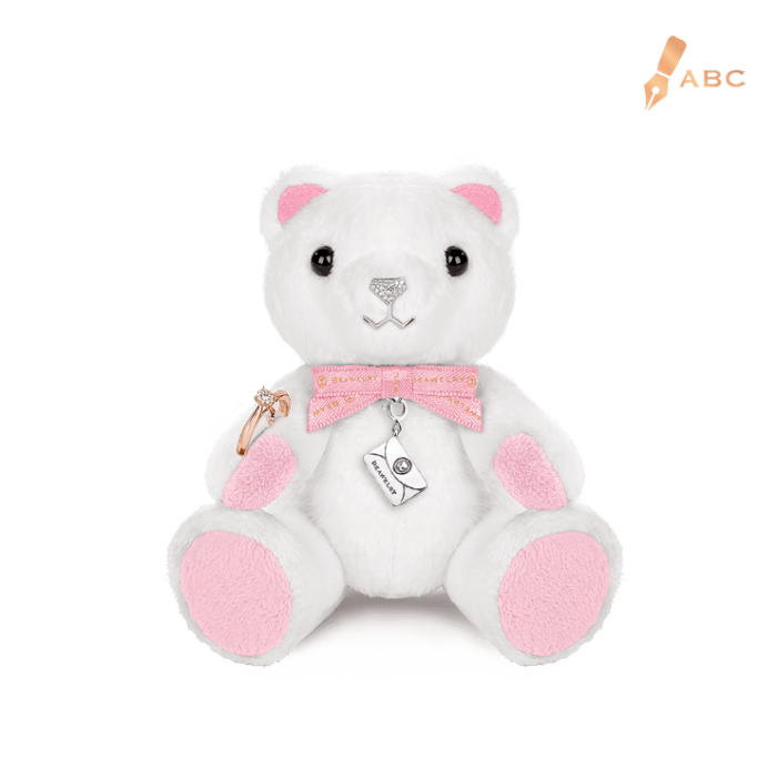 Mini Sparkle Beawelry Bear with a Ring Holder & Silver Envelope Charm