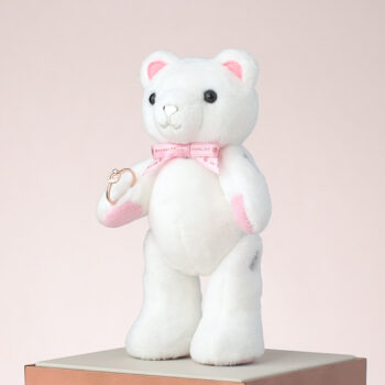 Mini Classic Beawelry Bear with a Ring Holder & Silver Envelope Charm