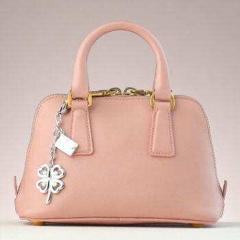 Clover Leaf CZ Bag Charm