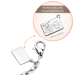 Lock & Key CZ Bag Charm