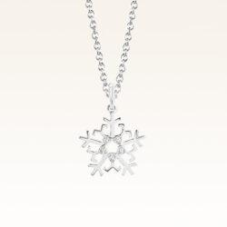 Silver Beawelry Snowflake CZ Pendant