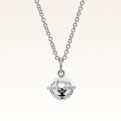 Silver Beawelry Bell CZ Pendant