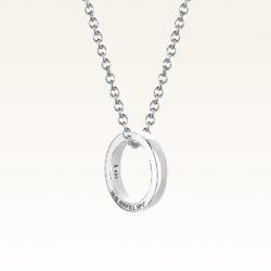 Silver Mini Band Ring Pendant