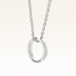 Silver Band Ring Pendant with Chain for Men