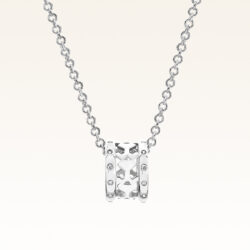 Silver Mini Eternity Beawelry CZ Ring Pendant