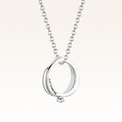 Silver Mini CZ Ring Pendant