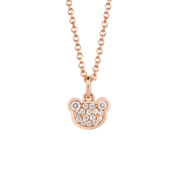 18K Pink Gold Beawelry Bear Diamond Pendant
