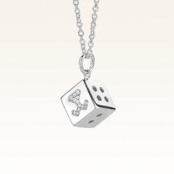 Silver Beawelry Dice CZ Pendant