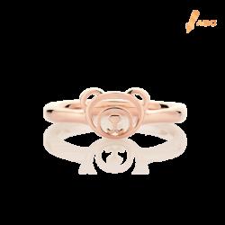 18K Pink Gold Bear Ring
