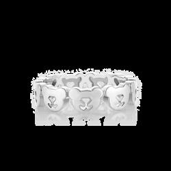 Silver Bear Eternity Ring