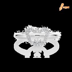 Silver Bear Swarovski CZ Ring