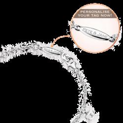 Silver Beawelry Mini Bears CZ Bracelet