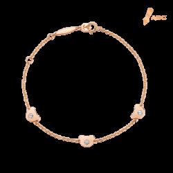 18K Gold Beawelry Bears Diamond Bracelet