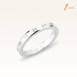 18K White Gold Beawelry Eternity Band