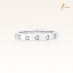 18K White Gold Heart Eternity Band
