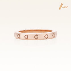 18K Pink Gold Heart Eternity Band