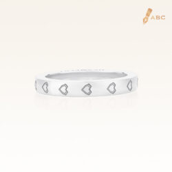 Silver Heart Eternity Band