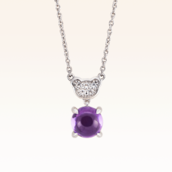 Silver Classic Beawelry Amethyst & White Topaz Pendant