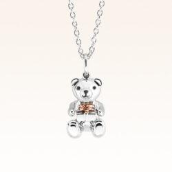 Silver Mini Beawelry Bear & Gift Box Pendant