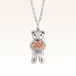 Silver Mini Beawelry Bear & Bouquet Pendant