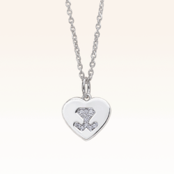 Silver Beawelry Heart Pendant with CZ