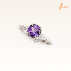Silver Beawelry Elegance Ring with Amethyst