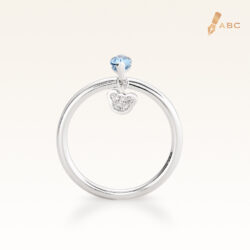 Silver Classic Beawelry Marquise Blue Topaz & White Topaz Ring
