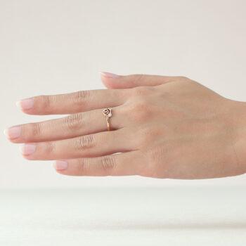 14K Pink Gold Beawelry Bear Diamond Ring