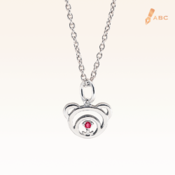 Silver July Birthstone Ruby Color CZ Beawelry Pendant