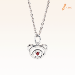 Silver January Birthday Garnet Color CZ Beawelry Pendant