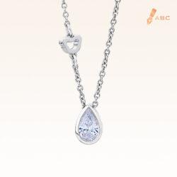 Classic Pear Shape CZ Silver Pendant