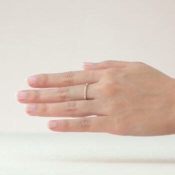 14K Pink Gold Mini Eternity Beawelry Band Ring