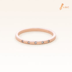 14K Pink Gold Petite 5 Stones Band Ring