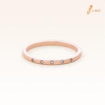 14K Pink Gold Petite 5 Stones Band Ring