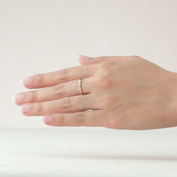 14K Pink Gold  Eternity Beawelry Band Ring