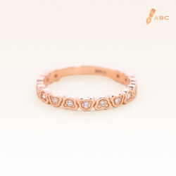 14K Pink Gold Eternity Beawelry Bear Diamond Ring