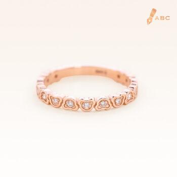 14K Pink Gold Eternity Beawelry Bear Diamond Ring
