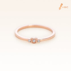 14K Pink Gold Petite Bear Band Ring