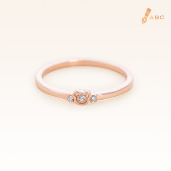 14K Pink Gold Petite Bear Band Ring