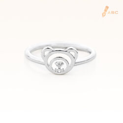 Silver April Birthstone White CZ Beawelry Ring