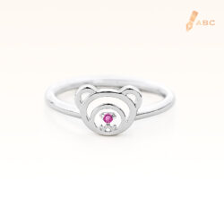 Silver February Birthstone Amethyst Color CZ Beawelry Ring