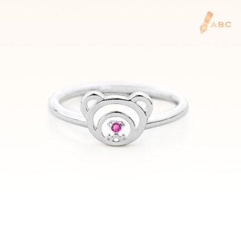 Silver February Birthstone Amethyst Color CZ Beawelry Ring
