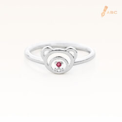 Silver January Birthstone Garnet Color CZ Beawelry Ring